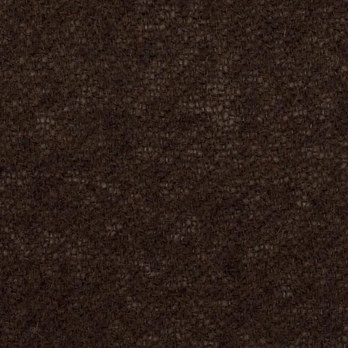 ウール&アクリル混×無地(ダークブラウン)×ガーゼ イメージ1