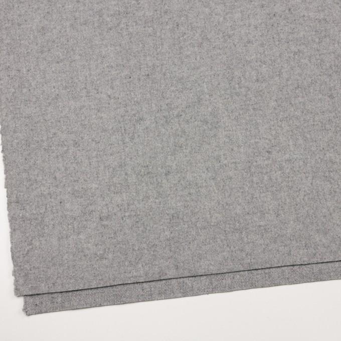 ウール&ポリエステル混×無地(グレー)×フラノ(フランネル) イメージ2