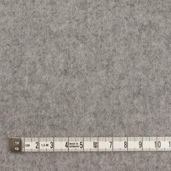 ウール&ポリエステル混×無地(グレー)×フラノ(フランネル) サムネイル4