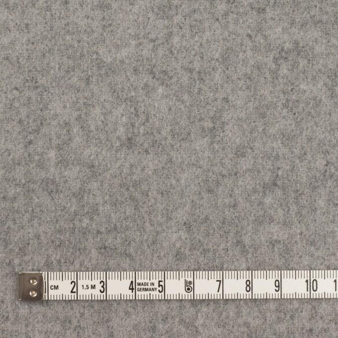 ウール&ポリエステル混×無地(グレー)×フラノ(フランネル) イメージ4