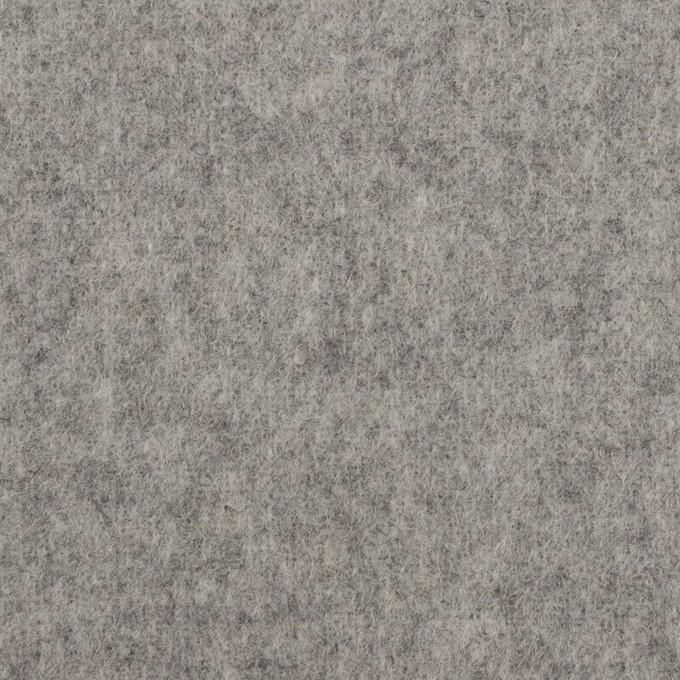ウール&ポリエステル混×無地(グレー)×フラノ(フランネル) イメージ1