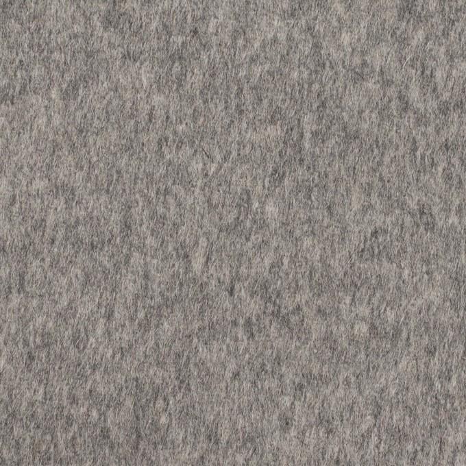 ウール×無地(グレー&エクリュ)×ビーバー&フラノ(Wフェイス) イメージ1