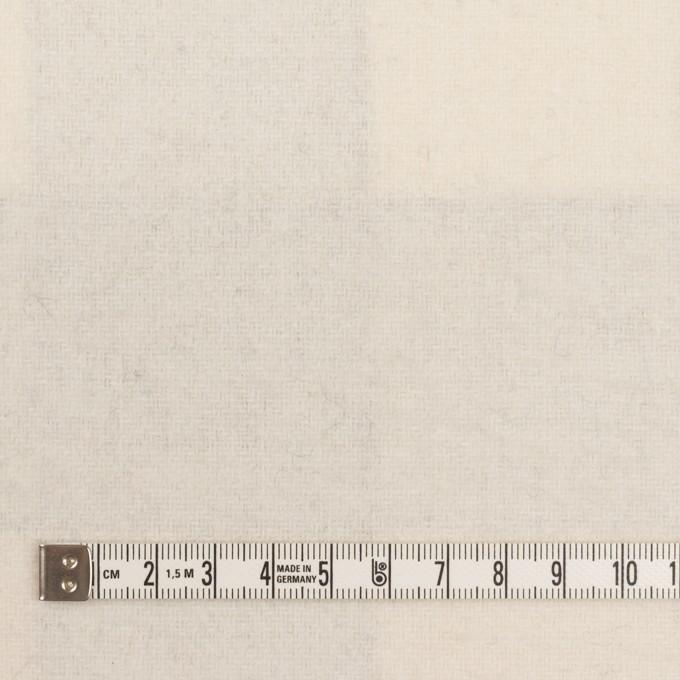 ウール&ナイロン×チェック&無地(ライトベージュ、オイスター&エクリュ)×Wフェイス・カルゼ イメージ6