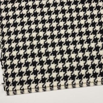 ウール×千鳥格子(エクリュ&ブラック)×かわり織 サムネイル2