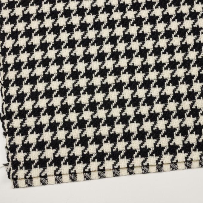 ウール×千鳥格子(エクリュ&ブラック)×かわり織 イメージ2
