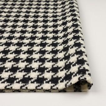 ウール×千鳥格子(エクリュ&ブラック)×かわり織 サムネイル3