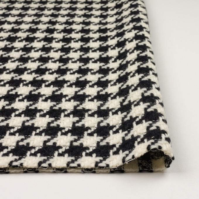 ウール×千鳥格子(エクリュ&ブラック)×かわり織 イメージ3