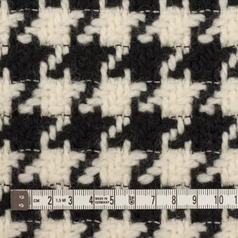 ウール×千鳥格子(エクリュ&ブラック)×かわり織 サムネイル4