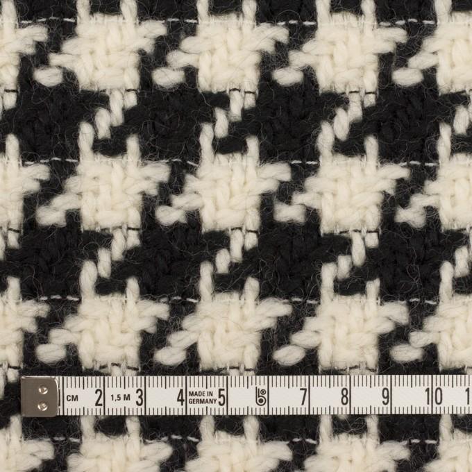 ウール×千鳥格子(エクリュ&ブラック)×かわり織 イメージ4