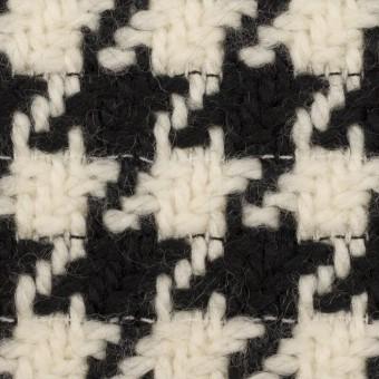 ウール×千鳥格子(エクリュ&ブラック)×かわり織