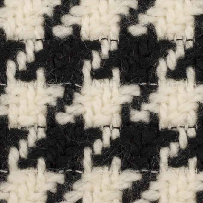 ウール×千鳥格子(エクリュ&ブラック)×かわり織 イメージ1