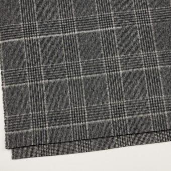ウール×チェック(チャコールグレー)×二重織 サムネイル2