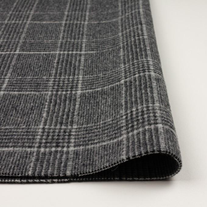 ウール×チェック(チャコールグレー)×二重織 イメージ3