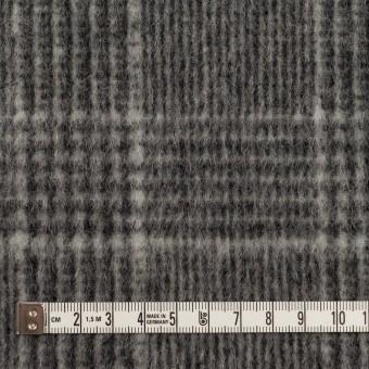 ウール×チェック(チャコールグレー)×二重織 サムネイル4