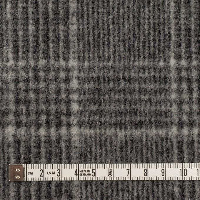 ウール×チェック(チャコールグレー)×二重織 イメージ4