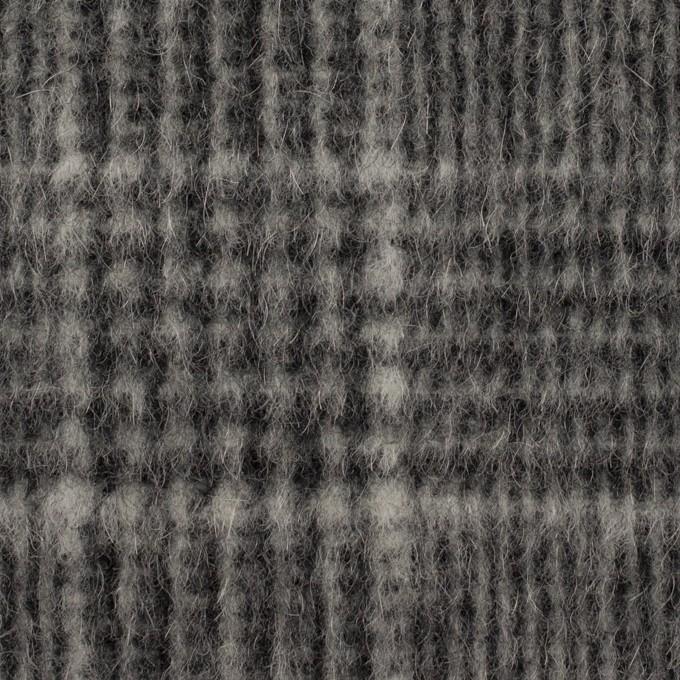 ウール×チェック(チャコールグレー)×二重織 イメージ1