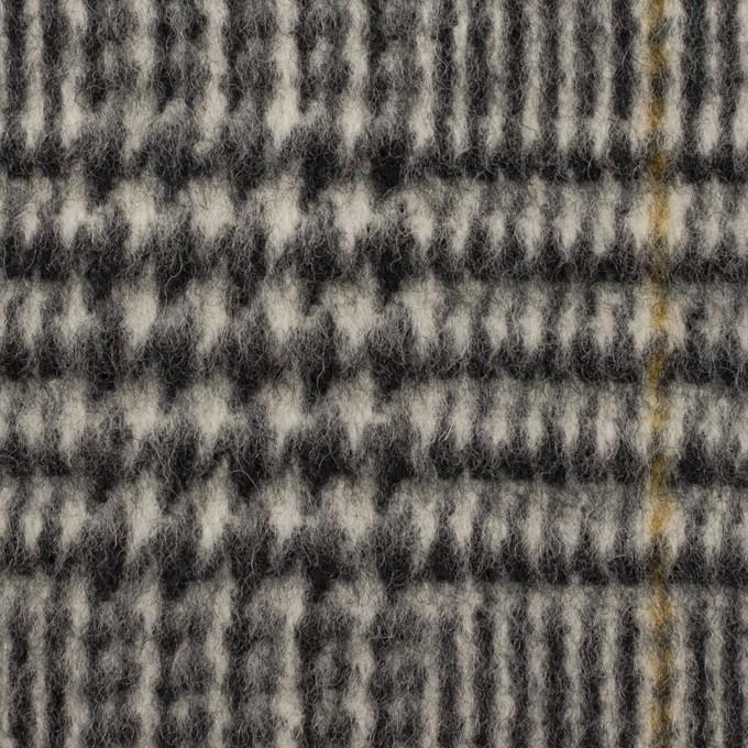 ウール×チェック(グレー&マスタード)×ツイード イメージ1