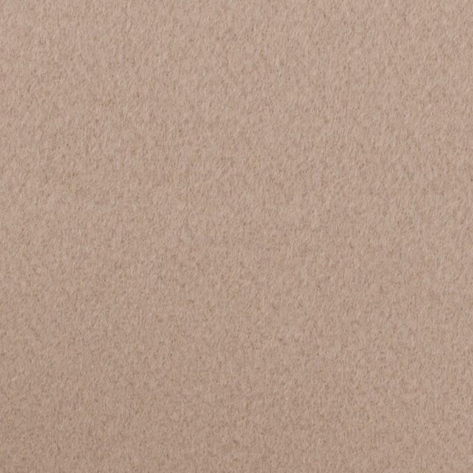 ウール×無地(アッシュベージュ)×Wフェイス・ビーバー イメージ1