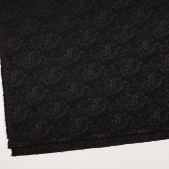 ポリエステル&ウール×ペイズリー(ブラック)×ジャガード サムネイル2