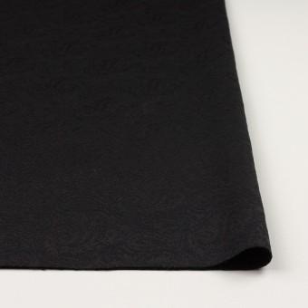ポリエステル&ウール×ペイズリー(ブラック)×ジャガード サムネイル3