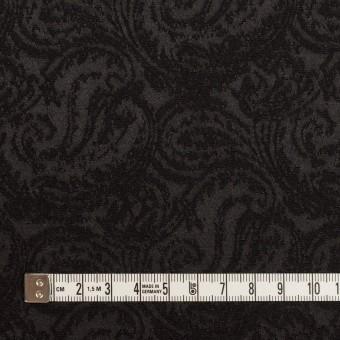 ポリエステル&ウール×ペイズリー(ブラック)×ジャガード サムネイル4