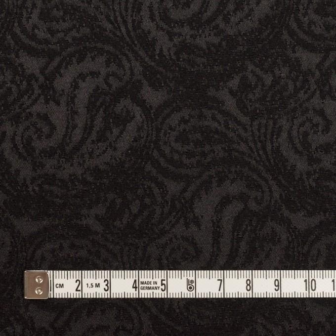 ポリエステル&ウール×ペイズリー(ブラック)×ジャガード イメージ4