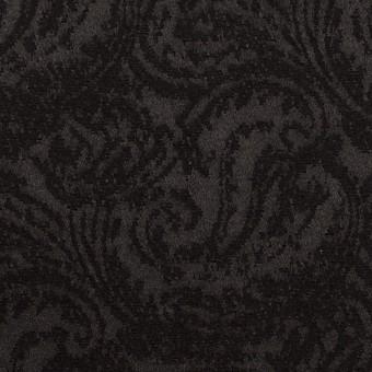 ポリエステル&ウール×ペイズリー(ブラック)×ジャガード サムネイル1