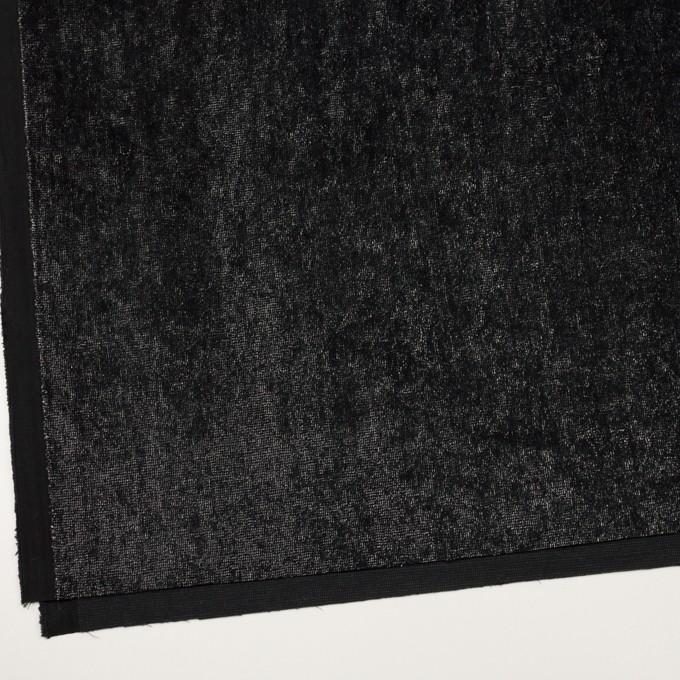 レーヨン&コットン×ミックス(シルバー&ブラック)×ベルベット イメージ2