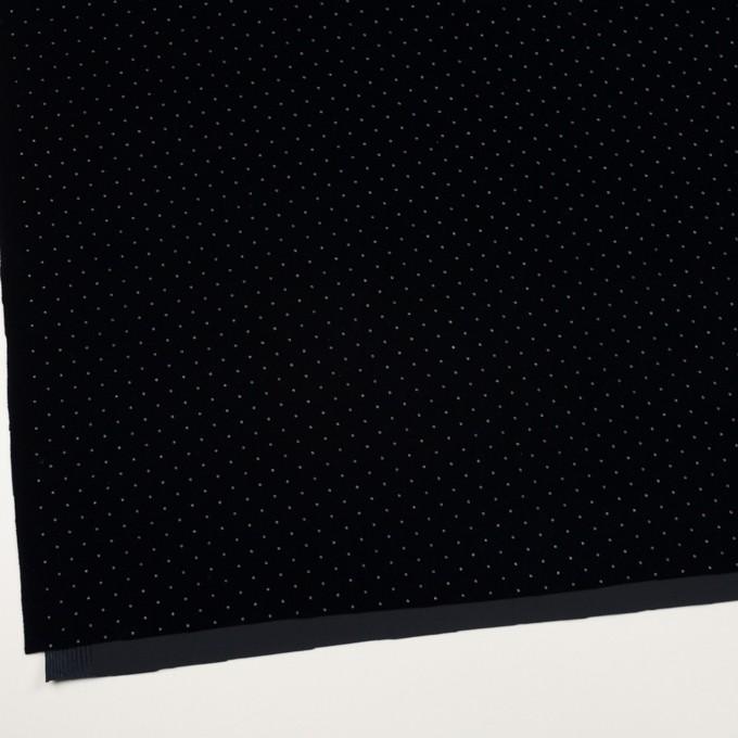 ポリエステル×ドット(ネイビー&シルバー)×ベロアニット_全2色 イメージ2