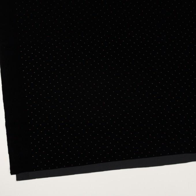 ポリエステル×ドット(ブラック&ゴールド)×ベロアニット_全2色 イメージ2