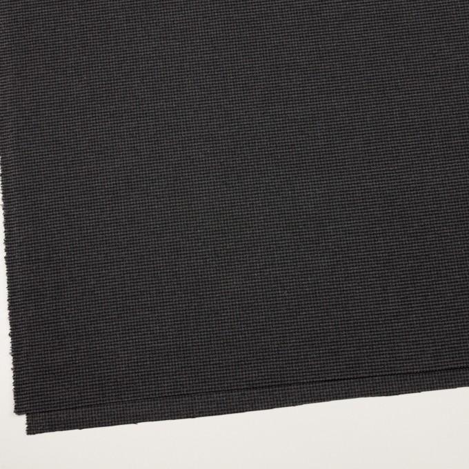 ポリエステル&レーヨン混×チェック(グレー&ブラック)×千鳥格子ストレッチ イメージ2