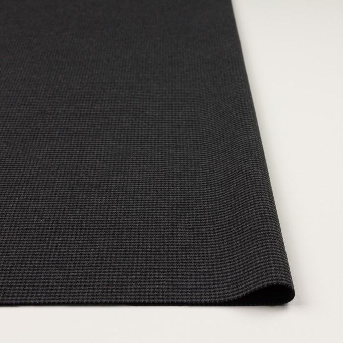 ポリエステル&レーヨン混×チェック(グレー&ブラック)×千鳥格子ストレッチ イメージ3