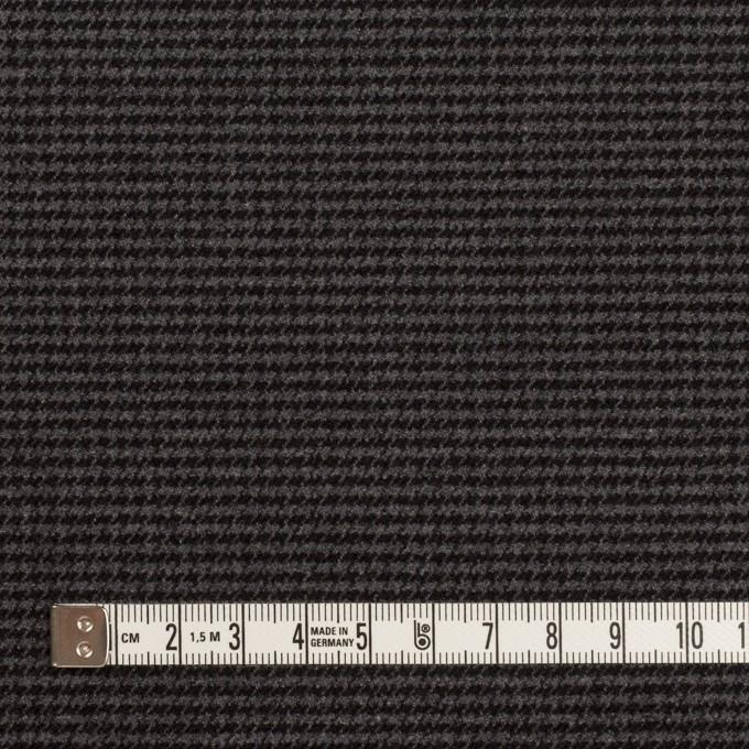 ポリエステル&レーヨン混×チェック(グレー&ブラック)×千鳥格子ストレッチ イメージ4