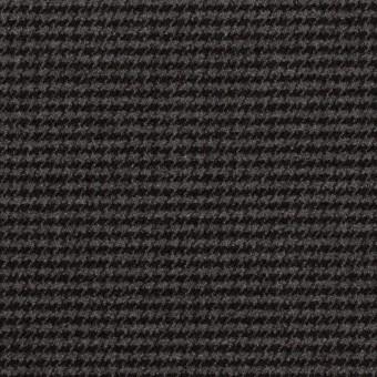 ポリエステル&レーヨン混×チェック(グレー&ブラック)×千鳥格子ストレッチ