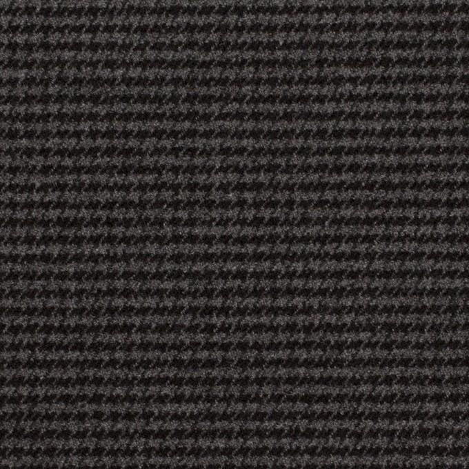 ポリエステル&レーヨン混×チェック(グレー&ブラック)×千鳥格子ストレッチ イメージ1