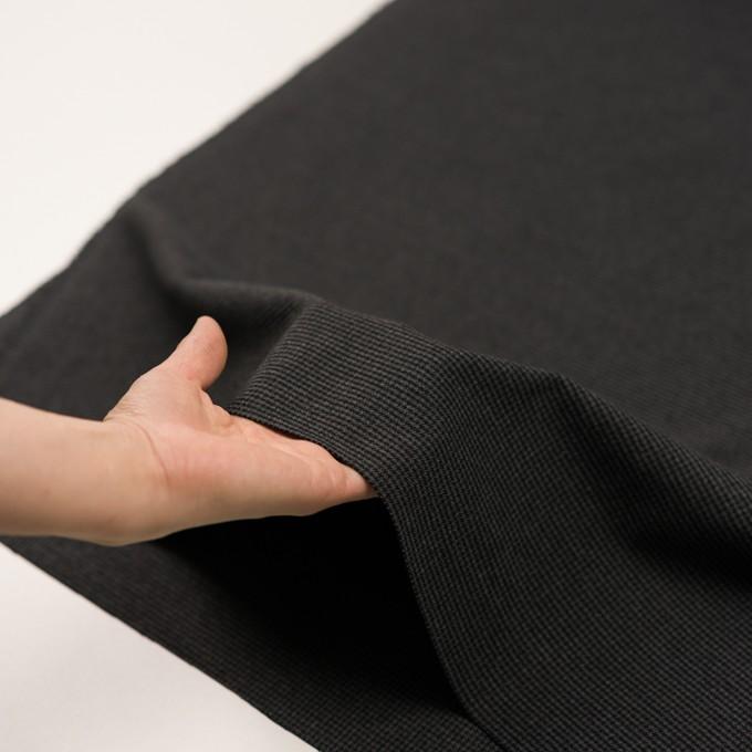 ポリエステル&レーヨン混×チェック(グレー&ブラック)×千鳥格子ストレッチ イメージ5