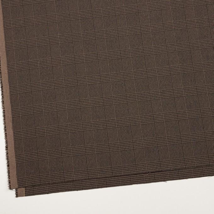 ポリエステル&レーヨン混×チェック(モカブラウン)×サージストレッチ イメージ2