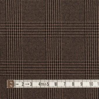 ポリエステル&レーヨン混×チェック(モカブラウン)×サージストレッチ サムネイル4