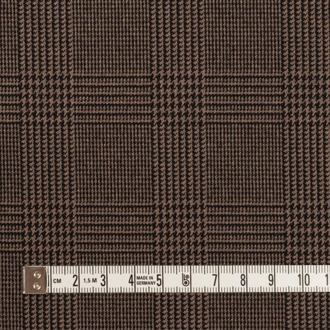 ポリエステル&レーヨン混×チェック(モカブラウン)×サージストレッチ イメージ4