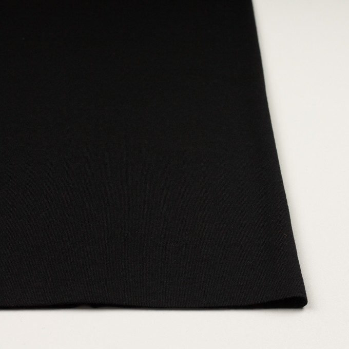 ウール×無地(ブラック)×天竺ニット_全2色 イメージ3