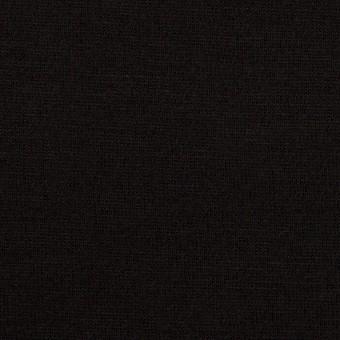 ウール×無地(ブラック)×天竺ニット_全2色
