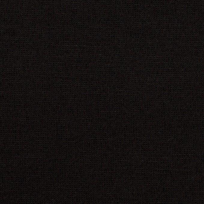 ウール×無地(ブラック)×天竺ニット_全2色 イメージ1