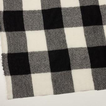 ウール×チェック(アイボリー&ブラック)×ガーゼ_全3色 サムネイル2