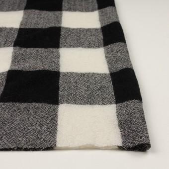 ウール×チェック(アイボリー&ブラック)×ガーゼ_全3色 サムネイル3