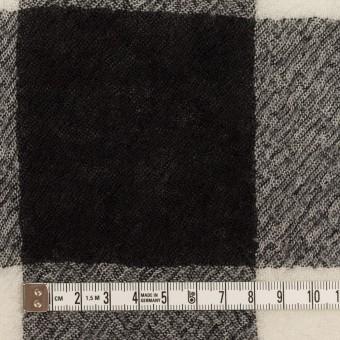ウール×チェック(アイボリー&ブラック)×ガーゼ_全3色 サムネイル4