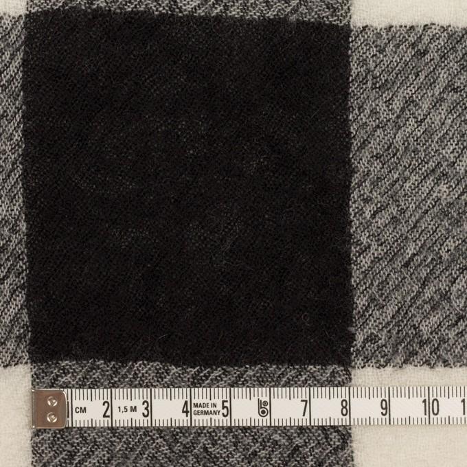 ウール×チェック(アイボリー&ブラック)×ガーゼ_全3色 イメージ4