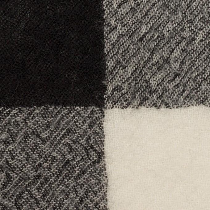 ウール×チェック(アイボリー&ブラック)×ガーゼ_全3色 イメージ1