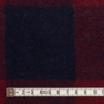 ウール×チェック(バーガンディー&ネイビー)×ガーゼ_全3色 サムネイル4