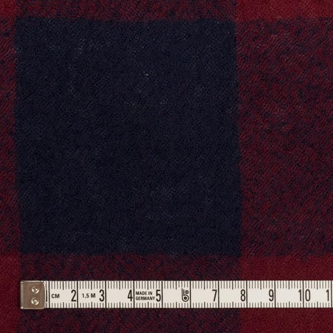 ウール×チェック(バーガンディー&ネイビー)×ガーゼ_全3色 イメージ4