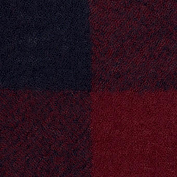 ウール×チェック(バーガンディー&ネイビー)×ガーゼ_全3色 イメージ1